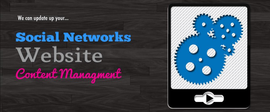 We can update your Social Networks and website.